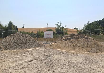 Bunker af Stabilgrus i Grusgraven