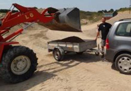 Sand på Trailer og Gravko
